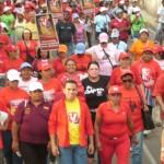 Enmanuel Pulgar en Caminata con el Frente de Misiones Sociales (Foto María Muñoz)
