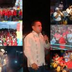 Cierre de campaña de Enmanuel Pulgar candidato del Circuito 5 por el PSUV. (Composición Gráfica Prof. Heberto Ortega)