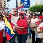 Dra. Blanca Zambrano Jefa de la Zona Educativa Zulia en un Punto Rojo con su personal (Foto Cortesia Prensa ZEZ)