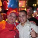 Enmanuel Pulgar y María Muñoz en el Cierre de Campaña